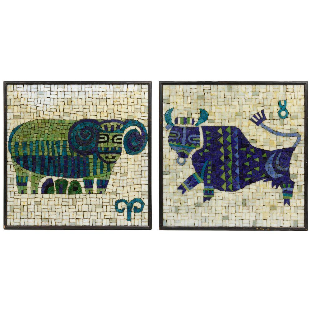 Evelyn Ackerman (American, 1924-2012) for ERA Industries Zodiac Mosaics