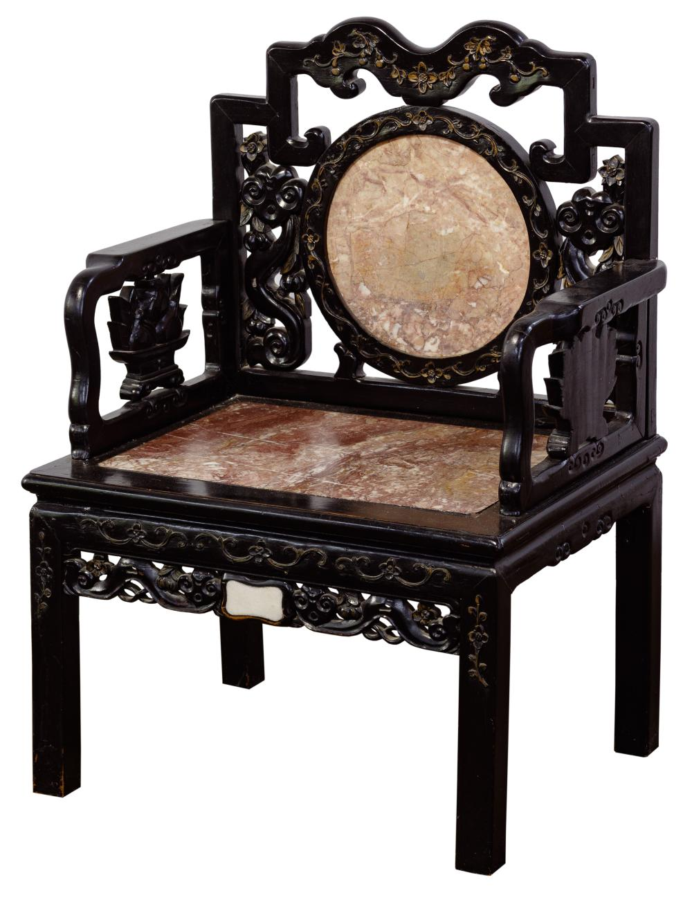 Chinese Style Carved Armchair