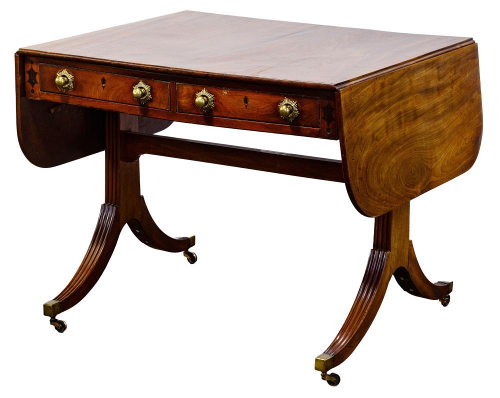Sheraton Style Mahogany Drop-Leaf Table