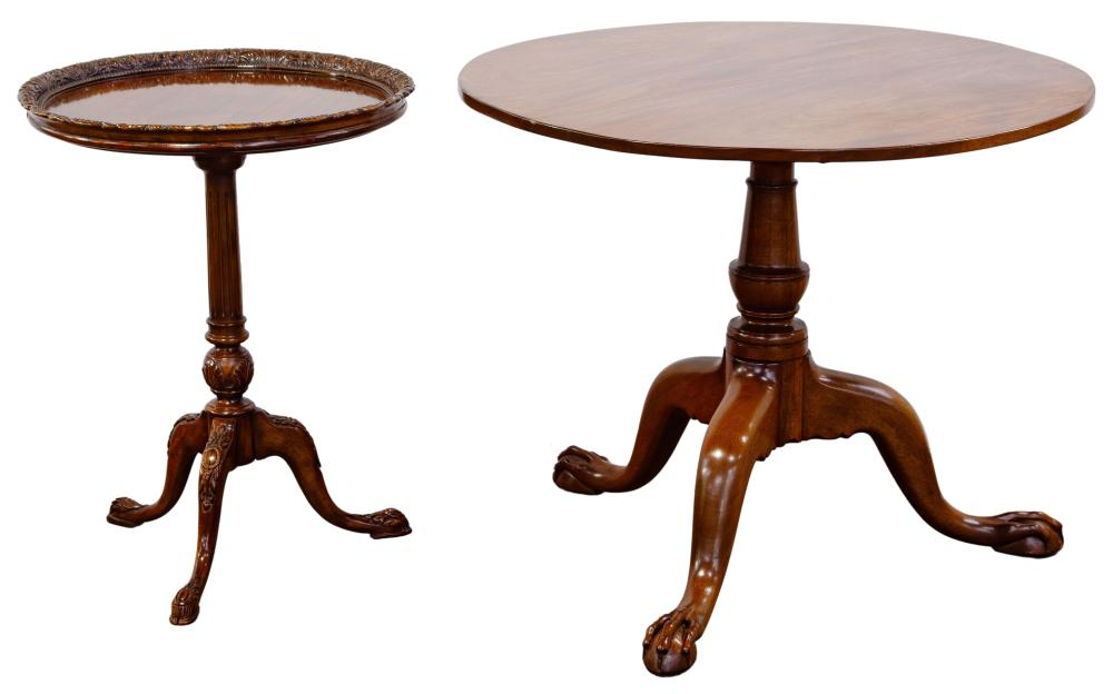 Chippendale Style Mahogany Flip Top Table