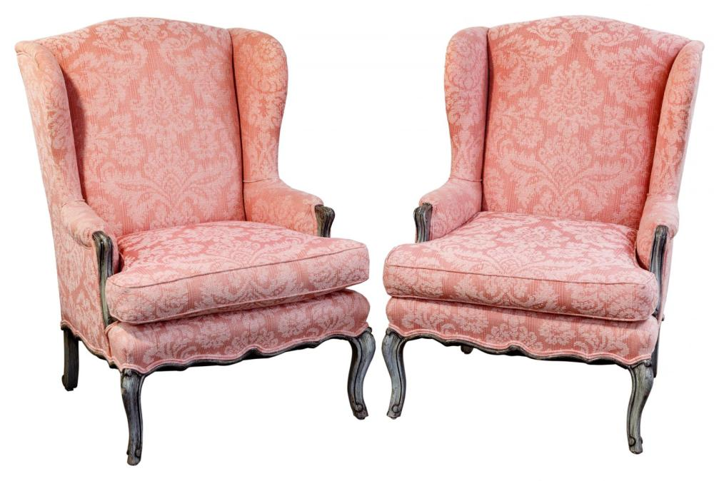 Damask Wing Chairs