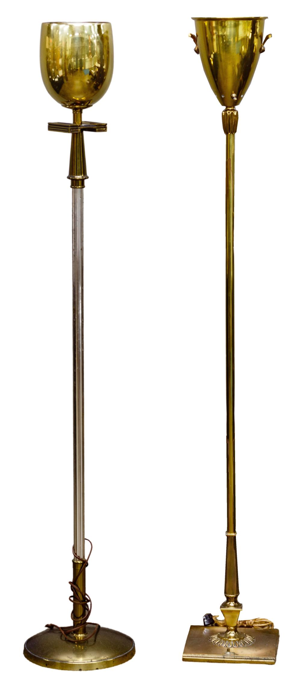 Tommi Parzinger Style Torchiere Floor Lamps