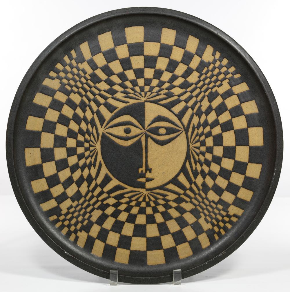 Clyde Burt (American, 1922-1981) Pottery Platter