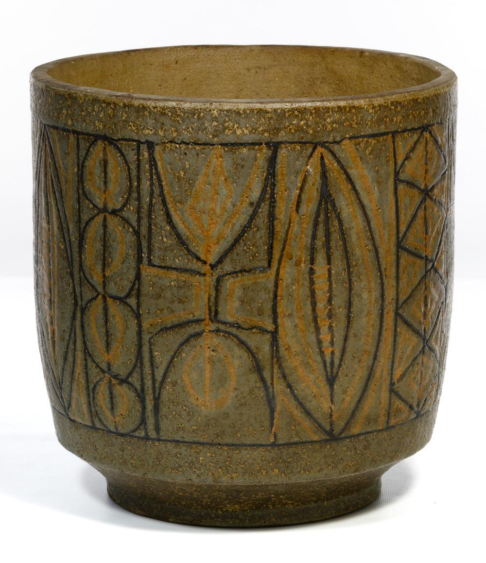 Clyde Burt (American, 1922-1981) Studio Ceramic Jardiniere