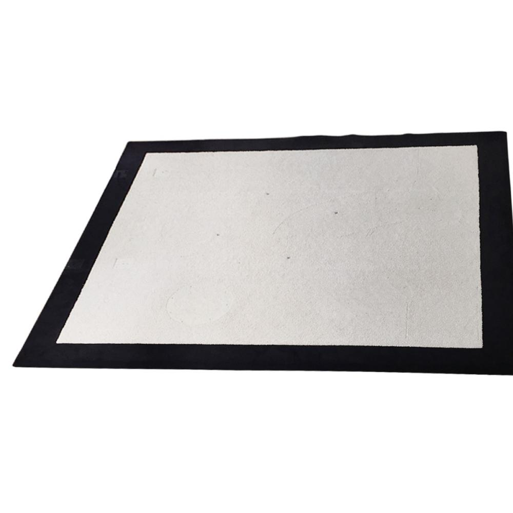 Contemporary Bordered Wool Rug