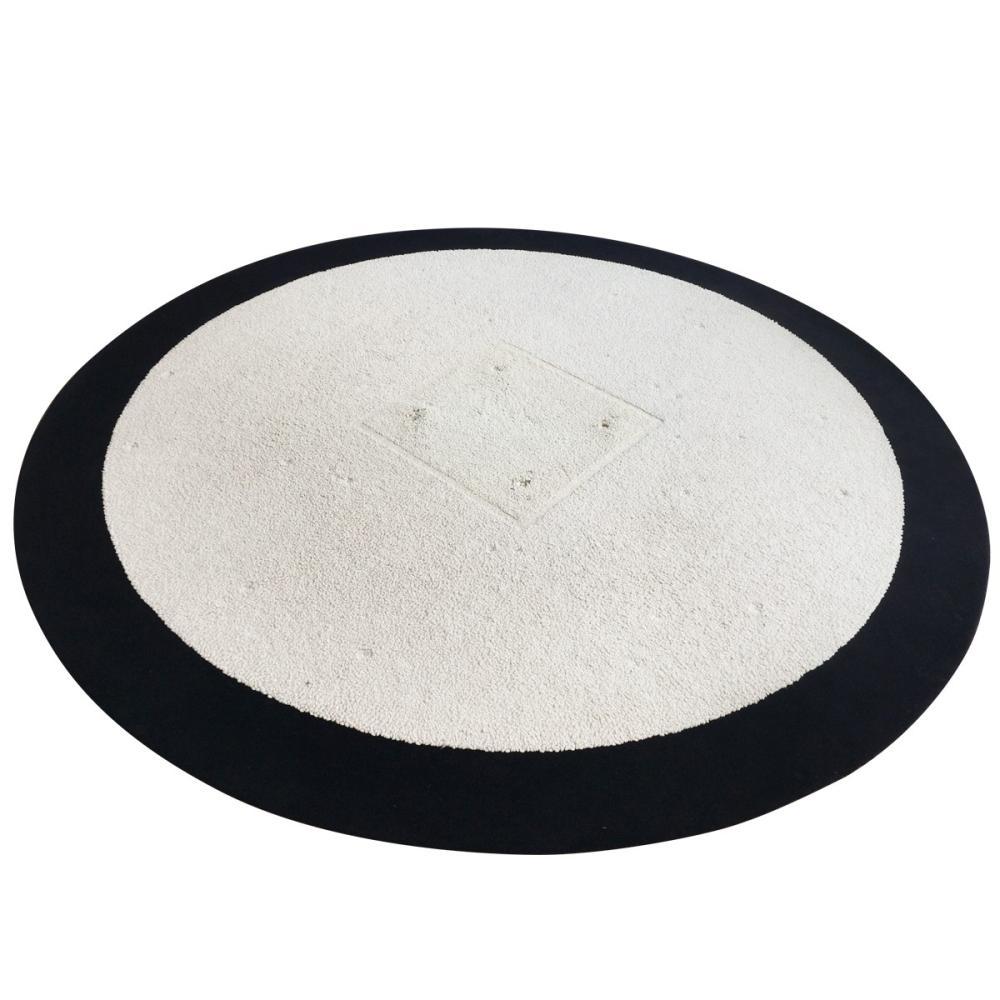 Circular Bordered Wool Rug