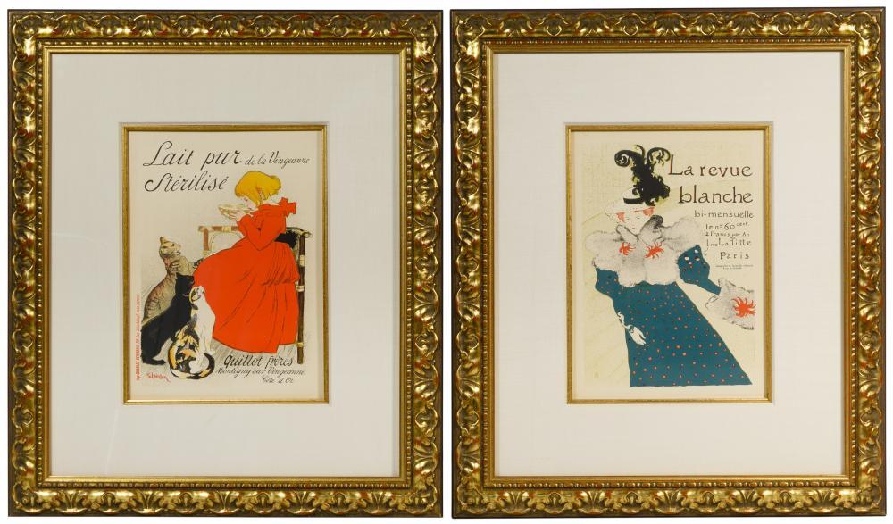 (After) Henri de Toulouse-Lautrec and Theophile Steinlen Lithographs