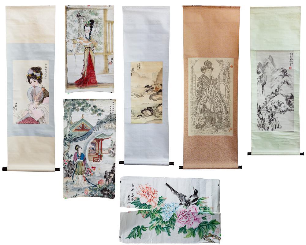 Asian Pictorial Scroll Assortment