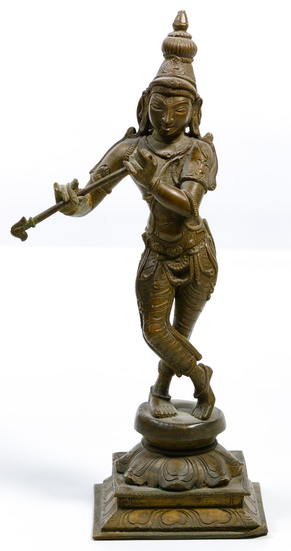 Indian Krishna Bronze Statue