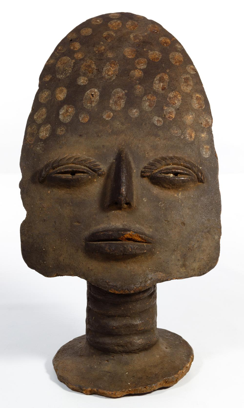 African Memorial Earthenware Mask