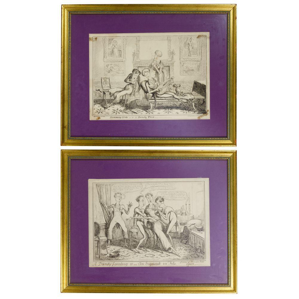 (After) George Cruikshank (English, 1792-1878) 'Dandy' Prints