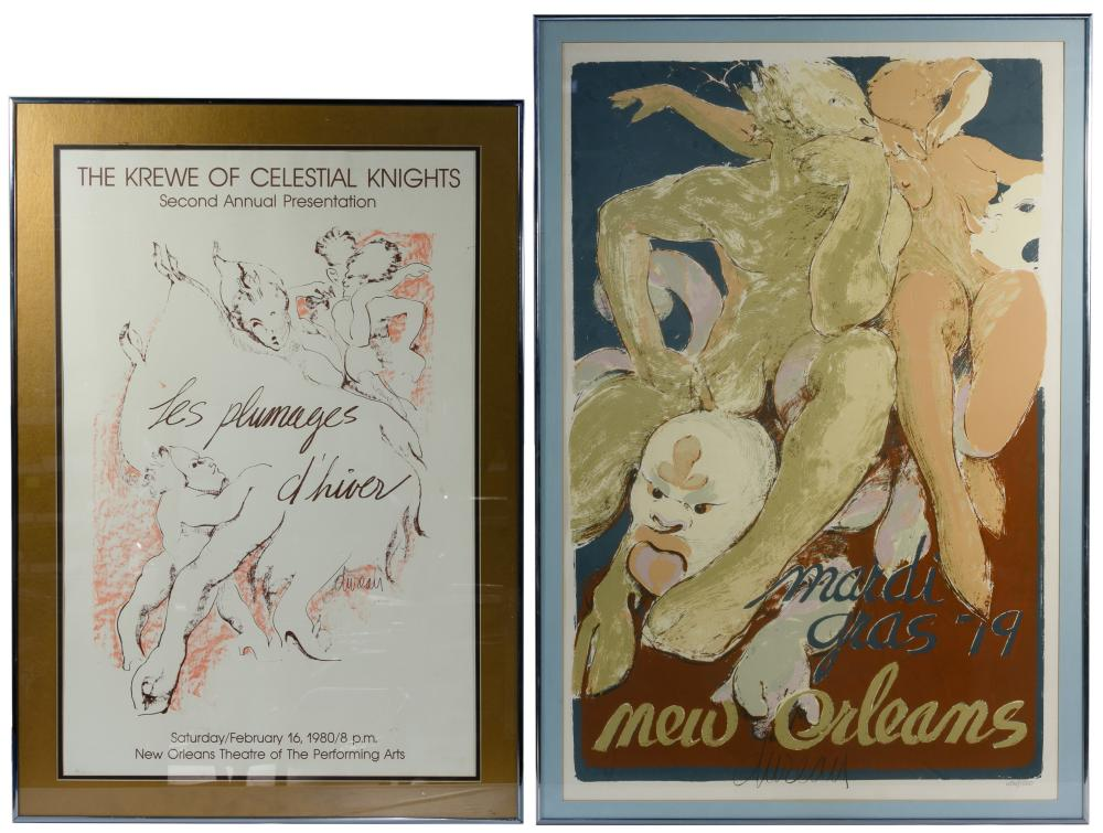 (After) George Dureau (American, 1930-2014) Lithograph Posters