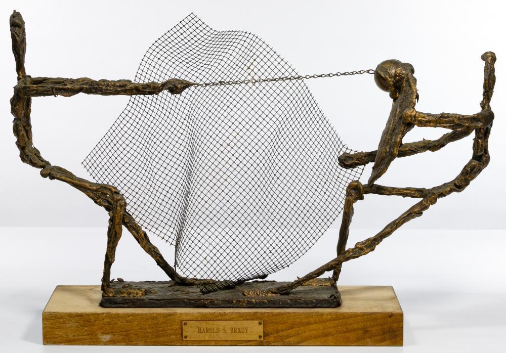 Harold S. Brady (20th Century) Gladiator Statue