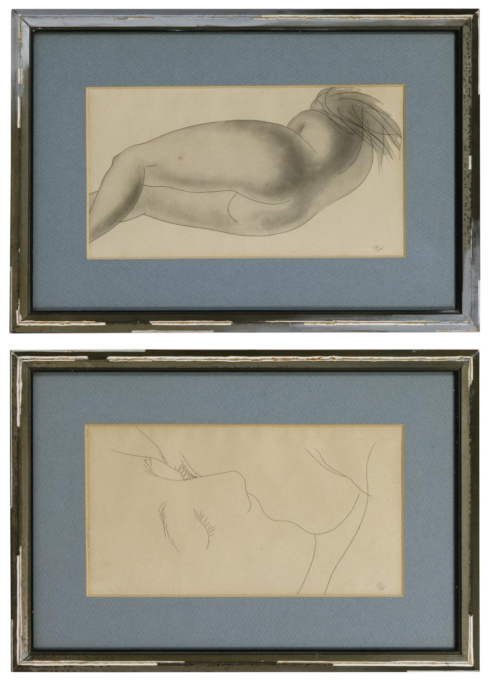 (After) Hans Erni (Swiss, 1909-2015) Drypoint Etchings