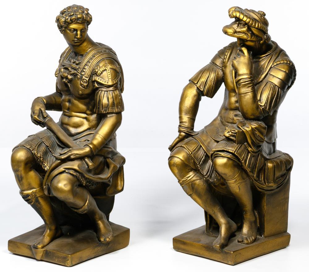 (After) Michelangelo Plaster Sculptures