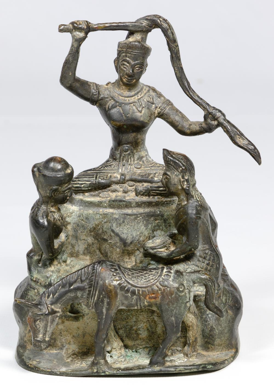 Thai Cast Bronze Buddha Statue