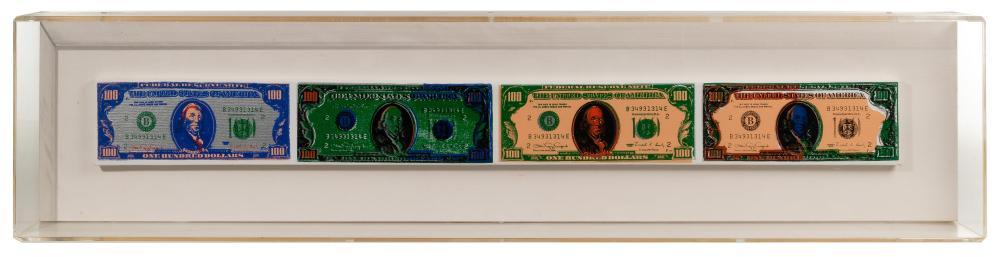 Steve Kaufman (American, 1960-2010) Oil and Silkscreen on Canvas