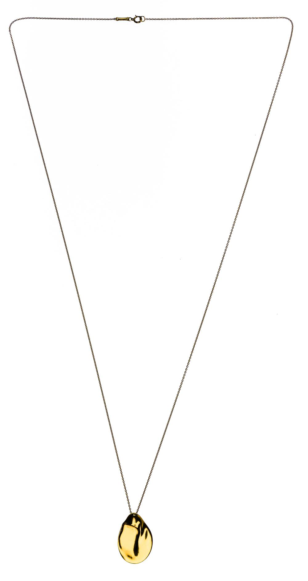 Tiffany & Co 18k Yellow Gold 'Madonna' Pendant and Necklace