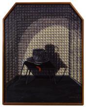 Eleanor Spiess-Ferris (American, b.1941) 'Black Tea Cup' Oil on Board