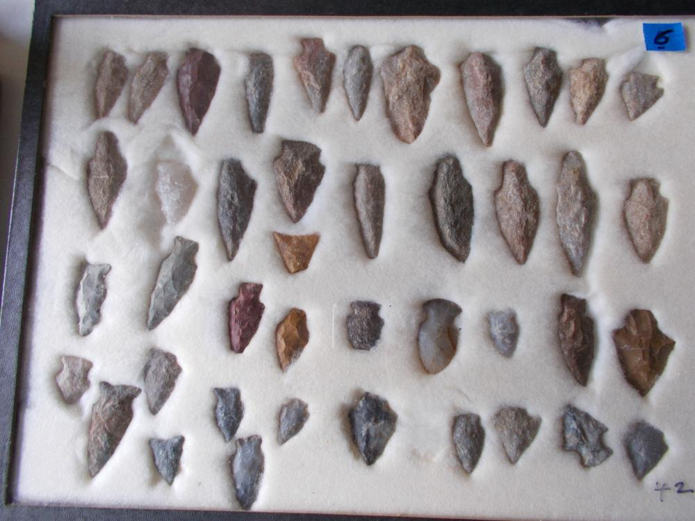 42 Ancient Local Arrowheads