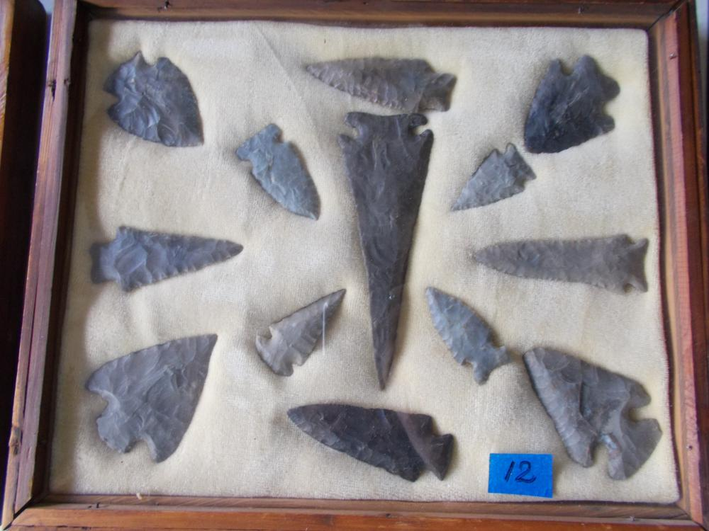 A-1 Group Of Ancient Indiana Flint Points