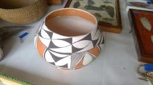 "Lot 17: A 6 1/2"" x 8"" Acoma Indian Pottery Jar"