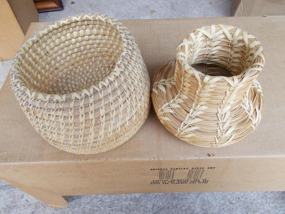 Lot 44: 2 Papago Indian Coiled Baskets