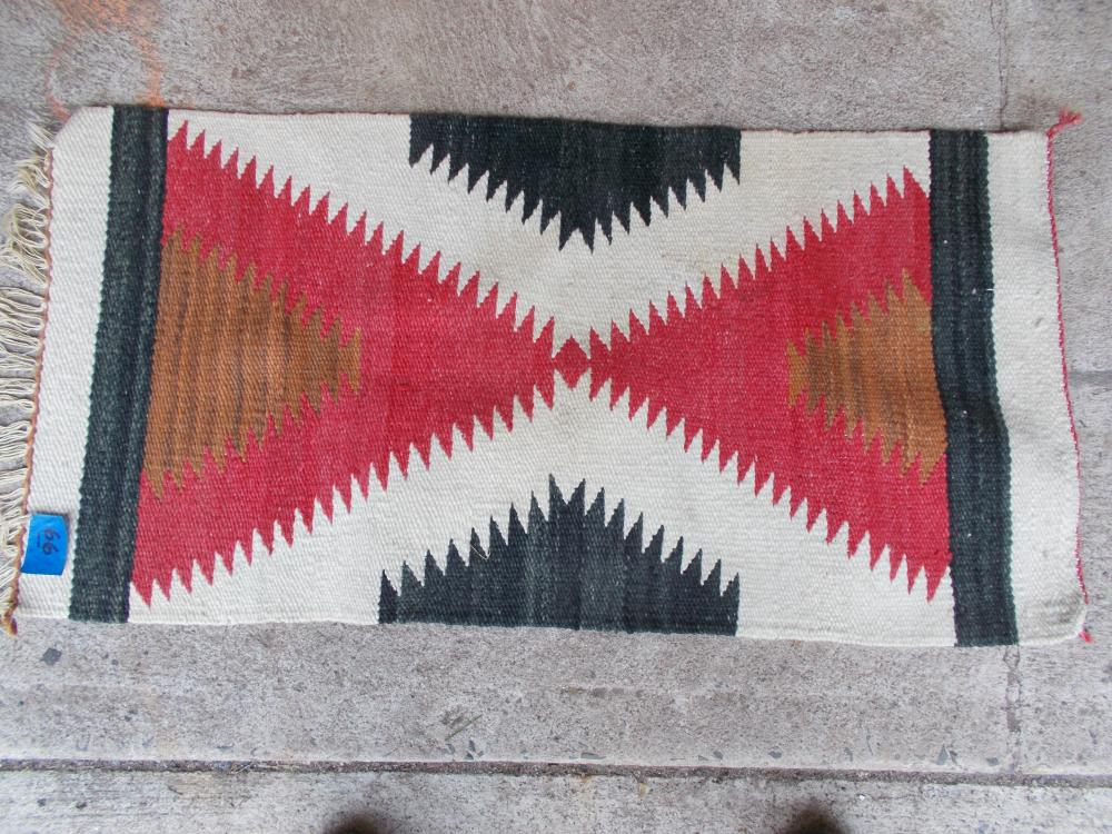 A Vintage Navaho Saddle Blanket