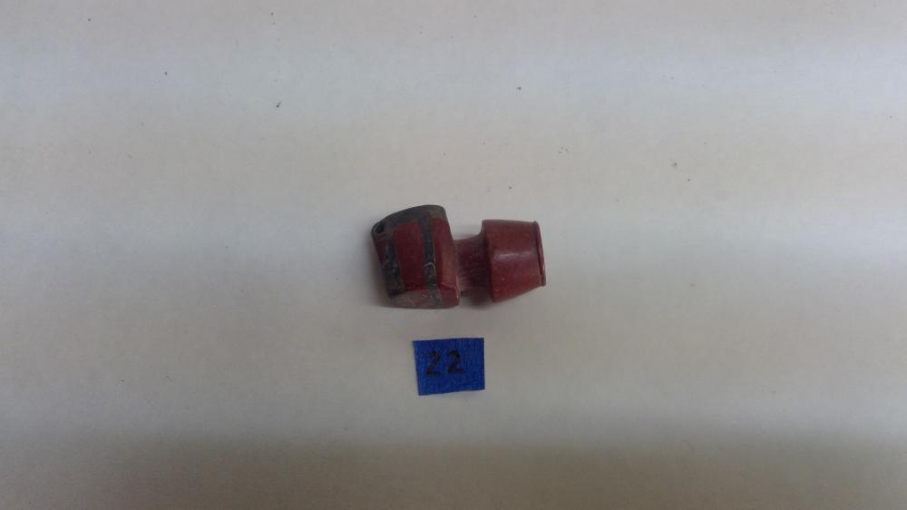Lot 22: A Catlinite & Lead Inlaid Smoking Pipe Bowl