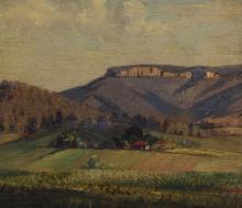 "HERBERT KEMBLE (1894-1986), landscape, N.S.W. circa 1930s, oil on board, signed lower right ""Kemble"", 32 x 37cm"