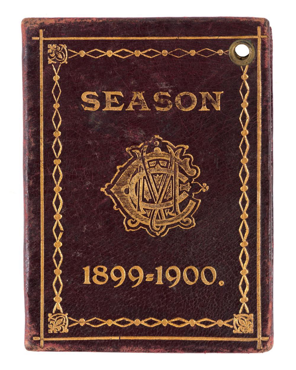 MELBOURNE CRICKET CLUB 1899-1900 Membership ticket