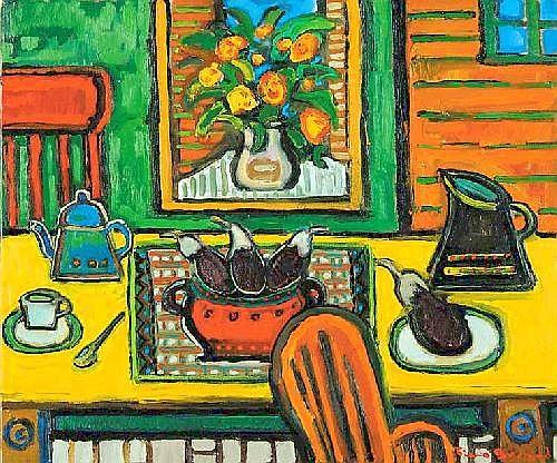 Pierre Bedard Aubergine oil on canvas   20 x 24