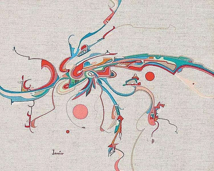 Artist : ALEX JANVIER ~ [b.1935] Canadian Title :