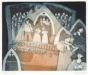 Gravel Francine Oratorio colour etching on paper 1983 9.5 11.75 1 111 625