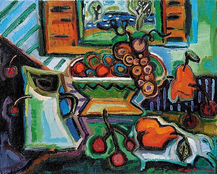 Bedard, Pierre: Table De Fruits oil on canvas.