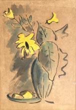 David Hendler - Flower Vase & Lemons
