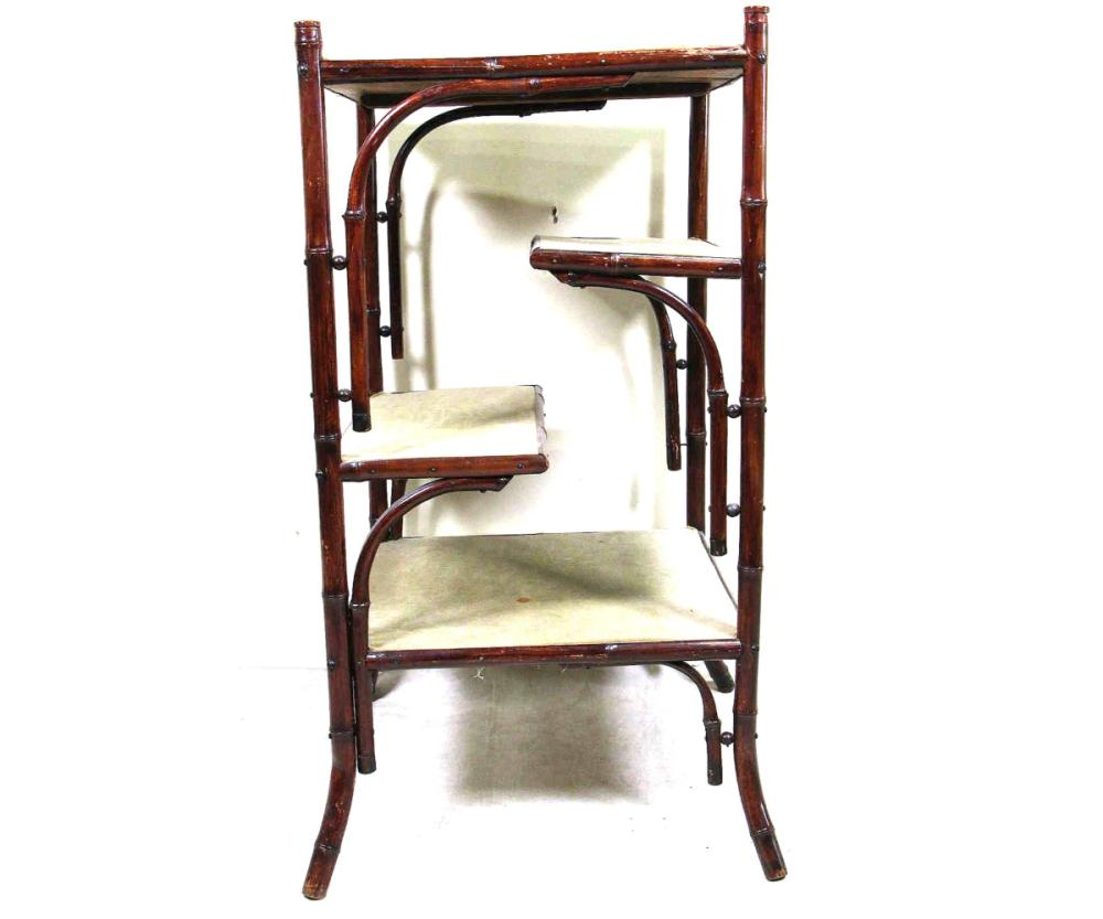 VICTORIAN BAMBOO ETAGERE