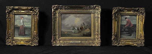 LOT OF THREE PAINTINGS