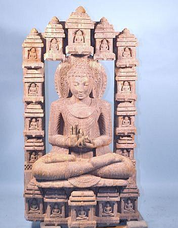 SANDSTONE BUDDHA SCULPTURE