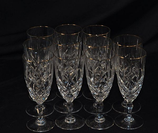 LOT OF ELEVEN WATERFORD WATER GLASSES
