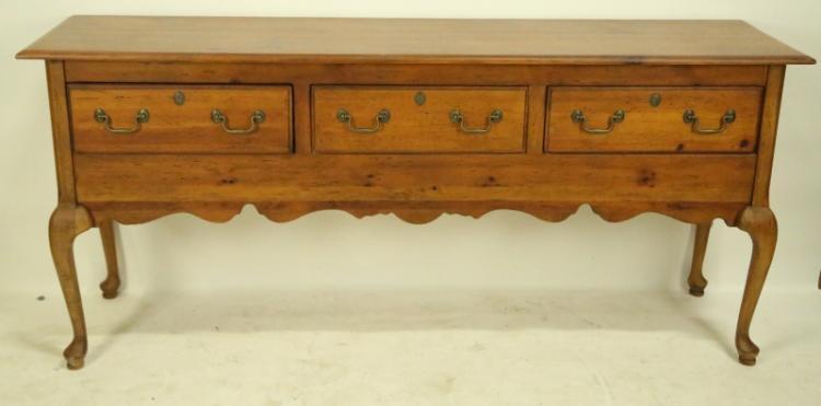 Habersham plantation pine huntboard for Furniture auctions uk