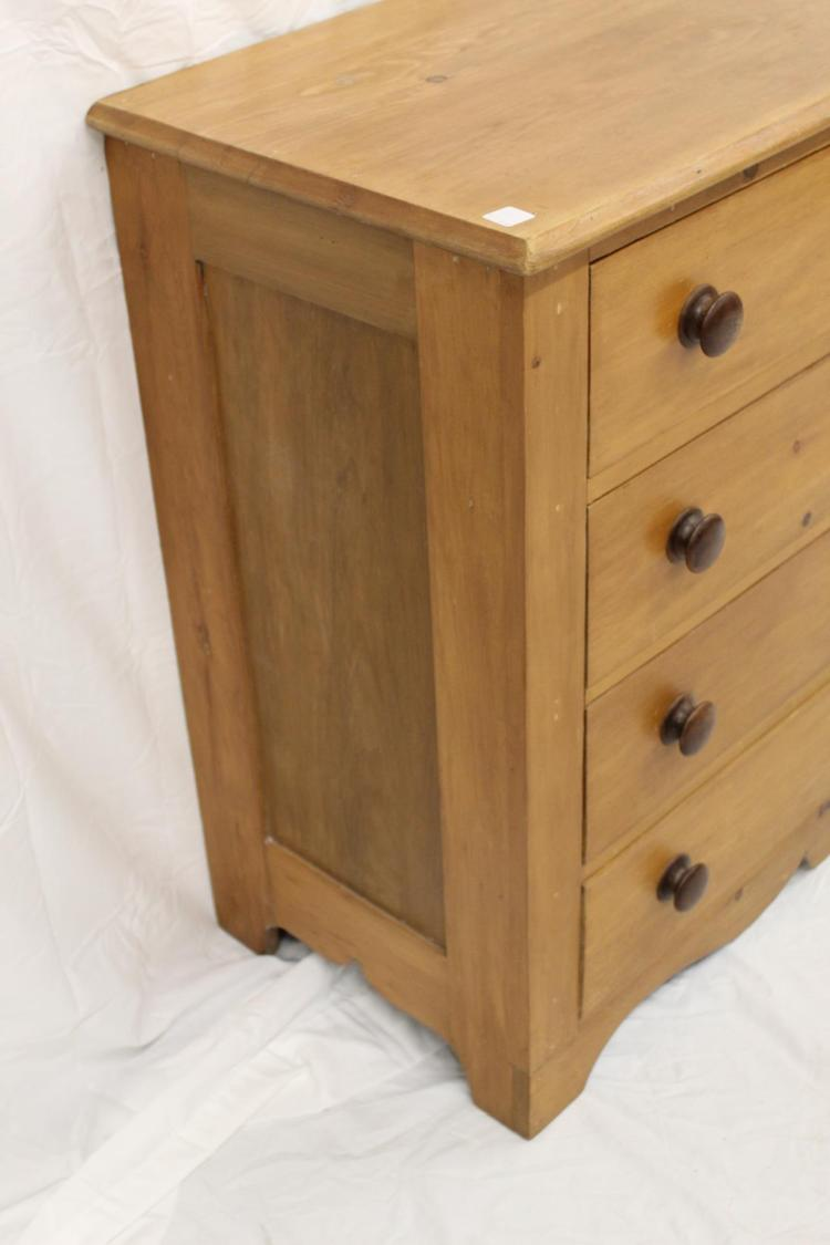 Antique pine 4 drawer for Furniture auctions uk
