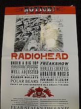 Rock poster Radiohead.