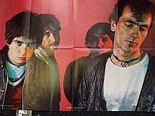 Rock Poster of The Stranglers c 1978 Scarce