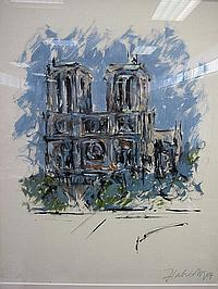 """Oil on Canvas """"Notre Dame"""" by Michael Flaherty B."""