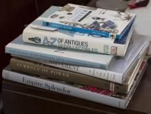A collection of six books dealing with antique silver and interior styles