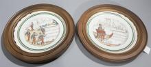 Pair of framed plates PV