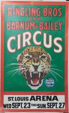Ringling Bros and Barnum & Bailey Circus poster, St. Louis Arena 1969