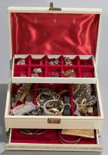 Nice collection of assorted costume jewelry in jewelry box