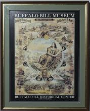 Framed poster for the Buffalo Bill Museum, Cody, Wyoming.